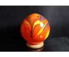 Kugellampe aus Glas Leuchtkugel Orange