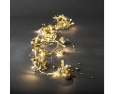 Konstsmide 3190-803 LED Dekolichterkette goldfarbene Kugeln / für Innen (IP20) / 24V Innentrafo / 20 warm weiße Dioden / transparentes Kabel