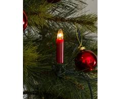 Konstsmide 1000-510 Baumkette mit roten Topbirnen / für Innen (IP20) / VDE geprüft / 230V Innen / One String / 16 klare Birnen / grünes Kabel
