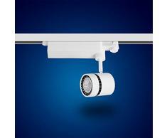 Mextronic 3-PHASEN-STROMSCHIENENSTRAHLER 15W Warmweiss led 3 phasen strahler für Schienensystem