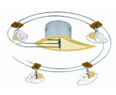 Deckenleuchte Dallas rund Spirale 4 flammig 12V hochwertiges Halogen Schienensystem mit filigranen Strahlern