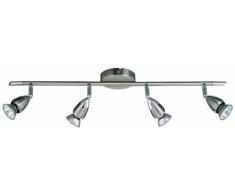 Briloner Leuchten Alfa-compact HVH-Deckenbogen, matt-nickel, 4 x GU10 3779-042