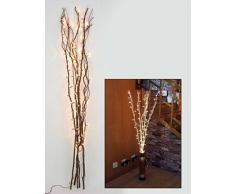 HI 5er Set Lichterzweig, braun, 40 LED warm-weiß, 110cm, Weihnachten