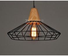 Sai Tai@LED Pendelleuchte Höhenverstellbar Küchen Deckenleuchte Wohnzimmer Designleuchte Deckenlampe Schlafzimmer Modern ,schwarz,Eisen,40cm*24cm