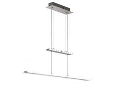 WOFI Pendelleuchte, 2-flammig Mission 1 x LED / 33 W, 10 x 150 x 90 cm, 3000 k, 2100 lm, Energieeffi