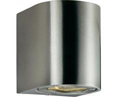Wand Lampe Außen Leuchte Schutznorm IP44 Edelstahl silber Nordlux CANTO 77571034