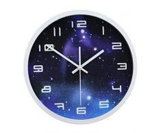 Liapianyun Modern Wanduhr Lautlos, Metall Wanduhr Uhr Uhren Wall Clock Ohne Tickgeräusche Für Alle Wohnbereiche,Weiß