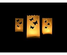 SiDeSo® 10 Stück Lichtertüten Schmetterlinge klein Hochzeit Deko