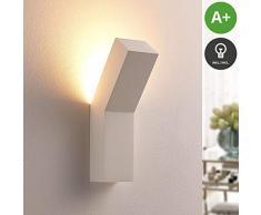 Lindby Wandleuchte, Wandlampe Innen Tida dimmbar (Modern) in Weiß aus Gips/Ton u.a. für Wohnzimmer & Esszimmer (1 flammig, G9, A+, inkl. Leuchtmittel) - Wandfluter, Wandstrahler, Wandbeleuchtung
