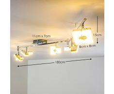"""LED Deckenstrahler """"Turin"""" - Deckenlampe 6 flammig mit verstellbaren Leuchtköpfen - Deckenspot mit 3000 Kelvin warmweißem Licht für gemütliche Wohnbereiche"""