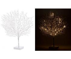 Lunartec Leuchtbäume: Moderner Lichterbaum mit 25 warmweißen LEDs, 50 cm, weiß (Deko Lichterbaum)