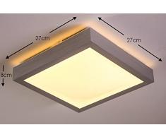LED Deckenlampe Wutach eckig 880 Lumen 12 Watt 3000 Kelvin warmweiss - IP44 Badezimmer geeignet