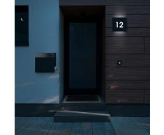 Frabox LED-Design Hausnummernleuchte NAMUR, mit Dämmerungsschalter
