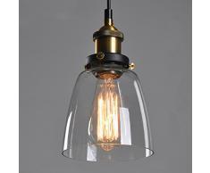 Bernstein Glas Schatten Deckenleuchte Kronleuchter Anhänger Retro Vintage Lampe