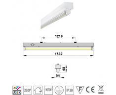 SUPER SET LED Deckenleuchten mit T8 LED 23W neutralweiß 4500K 150cm G13 Büroleuchte, Bürobeleuchtung