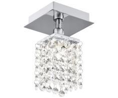 Edle Deckenleuchte Bantry in Chrom mit Kristall - Höhe: 165 mm