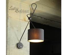 Loft Wandleuchte in schwarz-gold extrem flexibel verstellbar mit Schalter E14 Wandlampe Innen Beleuchtung Wohnzimmer Schlafzimmer Lampen