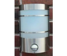 IR Wand-Außenleuchte mit Bewegungsmelder Edelstahl IP44 Außenlampe Sensor Bewegungssensor Infrarot Hoflampe Gartenlampe Gartenleuchte 1010-pi