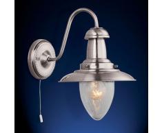 Landhaus Stil Wand Lampe Wohn Zimmer Beleuchtung Flur Leuchte silber Searchlight 5331-1SS