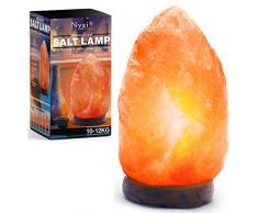 Himalaya-Salzlampe, 100 % natürlich und handgefertigt, mit Holzsockel, Premium-Qualität, Kristall-Steinlampe C, 10-12 Kg