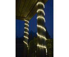Konstsmide 3045-100 LED Lichterschlauch 9m / für Außen (IP44) / 230V Außen / 108 warm weiße Dioden / transparenter Schlauch
