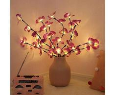 Wankd LED Lichterzweige Dekoleuchte Dekozweige Lichterzweige LEDs Lichter Zweige Lichterbaum LED Baum Lichterzweig Dekobeleuchtung für Innen Außen (Lila Rosa)