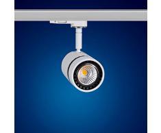 Mextronic 12W Warmweiss led 3 phasen strahler für Schienensystem Schienen Strahler Schienen Leuchte