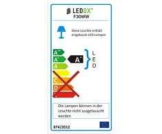 Ledox® Led Wandstrahler Ip65 230V 30W 3000k warmweiß 2400LM Außen-strahler-fluter-leuchte Wand-leuchte-lampe Flood Außen-lampe-bereich Strahler schwarz flach