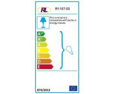 Reality Leuchten Kronleuchter Lüster 5-flammig / aus klarem Acryl mit Elementen in Messing / 5x E14 maximal 40 W ohne Leuchtmittel / ø: 52 cm R1107-03