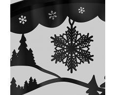Schwibbogen Lichterbogen Metall - Motiv: Vogtland - XXXL 2,0 Meter Breite Außen-Bereich schwarz * groß *