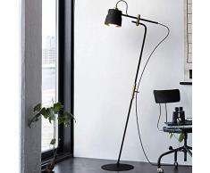 Stehlampe Teleskop-Design - Lange Stange Einstellbare Leseleuchte für Wohnzimmer, Schlafzimmer, Lounges Andere Wohnbereiche (Farbe: Schwarz)
