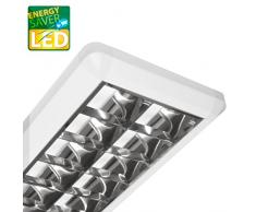 LED Rasterleuchte, LARA, Bürolampe 36W, max 2x26 LED, inkl. T8 LED, G13, Deckenleuchte, Büroleuchte, Bürobeleuchtung