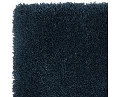F&S VELVET ALLURE blau 140 x 200 cm pastelfarbiger und sehr hochwertiger robuter verlourartiger TEPPICH bestehend aus 100% Polymer Yarns geeignet für Wohnbereiche und Schlafzimmer. Leicht zu reinigen und waschbar in der Waschmachine
