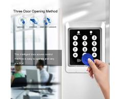 Kafuty Türzugangskontrollsystem Maschine mit 10 Schlüsselanhängern Passwort + Durchzugskarte + Passwort & Durchzugskarte DREI Öffnungsmethode, geeignet für Wohnbereiche, Büroräume