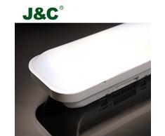 J&C® 60cm(2ft) IP65 Wasserdicht Feuchtraumleuchte Wannenleuchte, Sehr Hell 12W 2835 SMD 1000LM 4500K Naturweiß Leuchtstofflamp