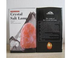 Salz lampen, Salzkristalllampe himalaya, Kristall Lampe ,Nachtlicht Stimmungslicht, Warme Atmosphäre Einzigartiges kreatives, anwendbar auf eine Vielzahl der Umgebungen (Natürlich)