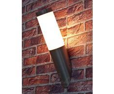 Edelstahl Außenlampe Außenleuchte Wandlampe Wandleuchte Wandfackel Fackel Hoflampe Eingangsbeleuchtung