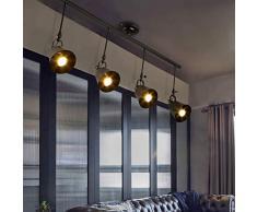 SchienenStrahler LED Schwarz Strahler (4-flammig) schwenkbarer Modern Deckenstrahler, Metall Deckenleuchte,Schienensystem, Deckenspot Lampe Innenbeleuchtung