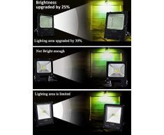 LED Strahler Außen, Fluter 30W mit Zuleitung, Aussenleuchte Wand mit EU-Stecker, IP66 Wasserdicht, Kaltweiß Superhell, Wandstrahler Gartenlampe