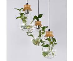 WWWWW Moderne Chinesische Kreative Bar Restaurant Glas Wasserpflanze Kronleuchter Pastoralen Kleinen Frischen Nachttisch Anhänger Kronleuchter Ideal for Wohnbereiche Deckenleuchte
