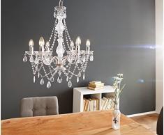 Hängeleuchte Gypsy Starlight Transparent 55 cm 6-armig Kronleuchter