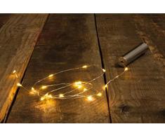 Rayher 69180000 LED-Mini-Lichterkette mit Draht, für den Innenbereich, flexibel, biegsam, batteriebetrieben, Länge 106,8 cm, 20 LED-Lämpchen, warmweißes Licht, ohne Batterie