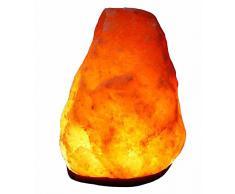 Salz Lampe Salzlampe Kristall Lampe Bosalla 2 - 3 kg mit KABEL SCHWARZ und Spezial Leuchtmittel TOP südl. v. Himalaya.(2156)