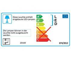 Deckenbogen 4flg.Fischer-Honsel nickel matt / chrom LED-Lampe Deckenleuchte