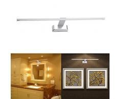 FVTLED 9W LED Aluminium Spiegelleuchte Bilderleuchte Wandleuchte 48LED SMD2835 Warmweiß 3000K Beleuchtung