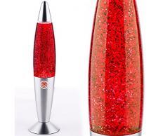 MIA Light Glitter ↥347mm/ Kinder/ Retro/ Rot/ Lampe Glitterlampe Glitterleuchte Lavalampe Lavaleuchte Magmalampe Magmaleuchte
