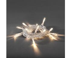 Konstsmide 1407-103 LED Lichterkette / für Innen / VDE geprüft / Batteriebetrieben: 2xAA 1.5V (exkl.) / mit Schalter und 6h Timer / 10 warm weiße Dioden / transparentes Kabel