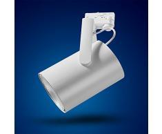 Mextronic 3-PHASEN-STROMSCHIENENSTRAHLER 40W F10 Warmweiss led 3 phasen strahler für Schienensystem