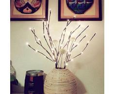 Alecony Dekorative Lichterzweig,30 Zoll Dekoleuchte mit 20 LED Zweig Stimmungsleuchte Weidenzweige Beleuchtung Lichterkette Lichter für Weihnachtsfeier Hochzeitszeremonie Garten Schlafzimmer