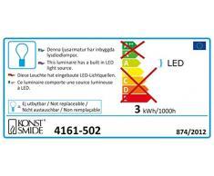Konstsmide 4161-502 LED Dekolichterkette bunte Plastikreiskugeln / für Außen (IP44) / VDE geprüft / 24V Außentrafo / 40 warm weiße Dioden / weißes Kabel